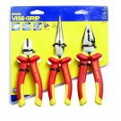 "IRWIN VDE Zangen-Set 3pcs Set (6""/150mm diagonal cutter, 8""/200mm long nose plier, 7""/175mm combination plier"