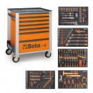 BETA EASY WERKZEUGWAGEN C24S7 ORANGE + 295TLG SORTIMENT